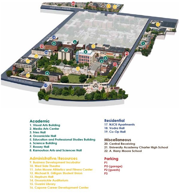 College Of New Jersey Campus Map.Visitor Information New Jersey City University Athletics